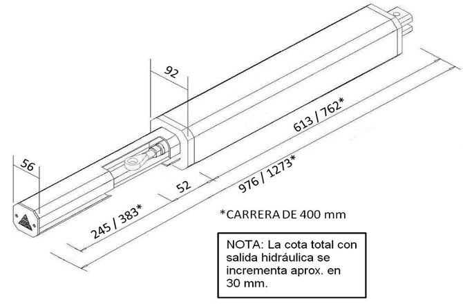 Dimensiones de la Cancela batiente TOR